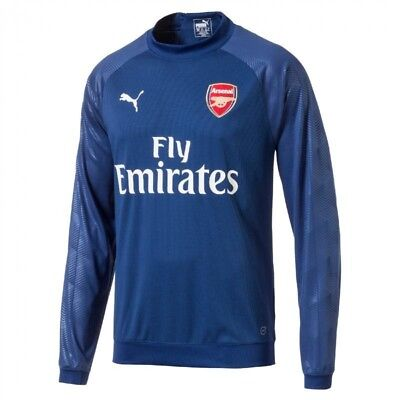 Arsenal Mens Puma Football AFC Long Sleeve Lightweight Sweatshirt Training Top