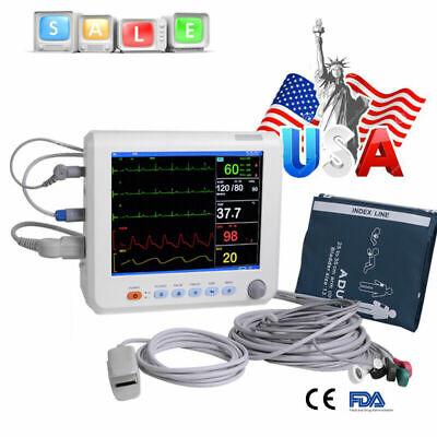 8medical Patient Monitor 6-paras Portable Icu Ccu Vital Sign Cardiac Monitor Ce