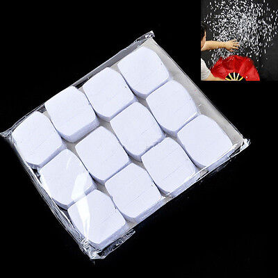 12pcs White Snowflakes Paper Snow Storm Magic Trick Halloween Xmas Stage - Magic Paper