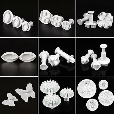Heart Mould - Fondant Cake Cutter Plunger Cookie Mold Sugarcraft Flower Heart Decorating Mold