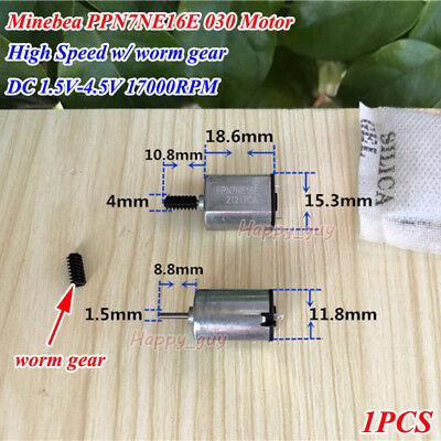 Minebea Ppn7ne16e Dc 1.5v 3v 11800rpm High Speed Worm Gear Shaft Ff-030pk Motor