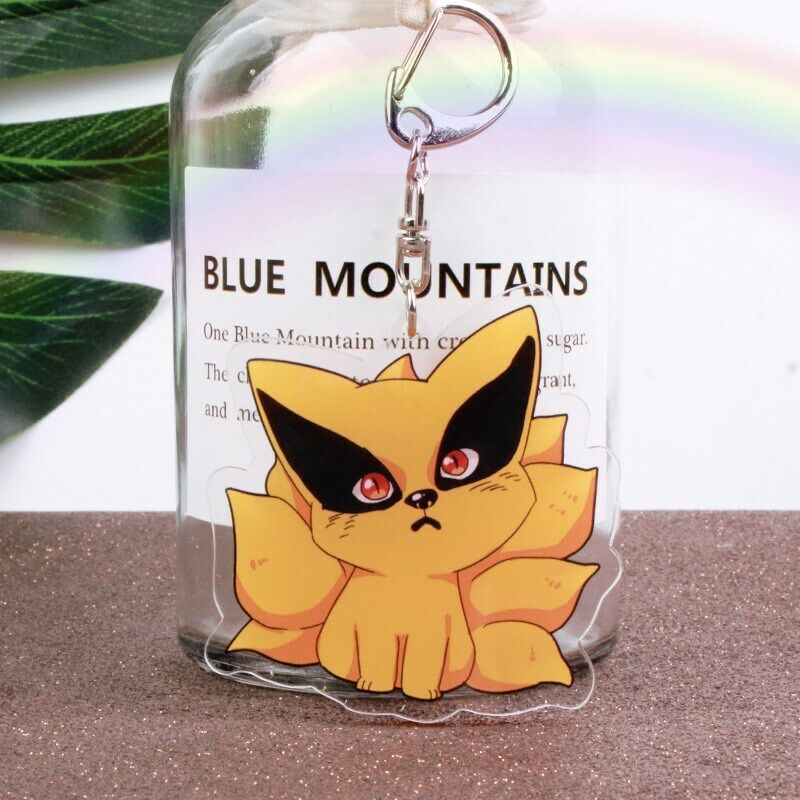Naruto Kurama kyuubi acrylic Keychain Key Ring Two faces Bag Ornament Keyring
