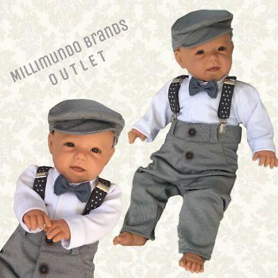 Baby Anzug (Taufanzug 5tlg. Taufe Babyset Jungenanzug Hose Fliege Body Cappy Hosenträger )