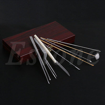 8Pcs Health Care Tool Ear Pick Cleaning Set Ear Wax Remover Cleaner Curette Kit