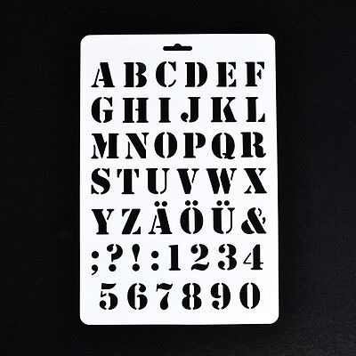 Beschriftungsschablone Alphabet Schablonen Malerei Papier Handwerk Anzahl NG8