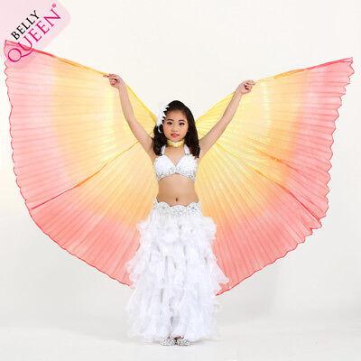 Kinder Mädchen Belly dance Bauchtanz Schleier ISIS Wings Kostüm 3 Farben Neu (Isis Mädchen Kostüm)