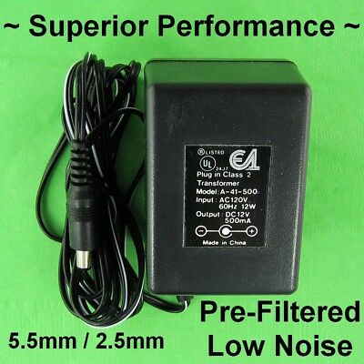 6V DC 500ma BEST AC Adapter Switching Power Supply 5.5mm//2.1mm 6 Volt DC 1//2A .5