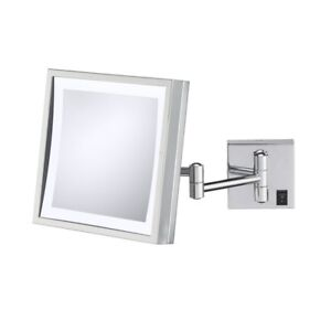 Kimball & Young Single Sided Square 3x Magnification LED Mirror