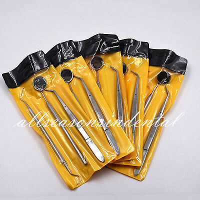 16 Kits Instruments Basic Dental Set Mirror Explorer College Plier Stainless 48x