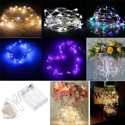 Battery Powered Fairy Lights - 20//50/100 LED String Fairy Lights Copper Wire Battery Powered Waterproof USA
