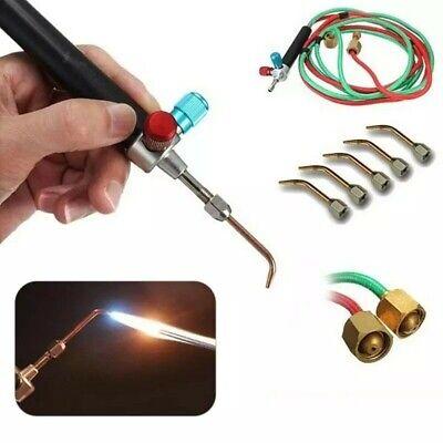 Butane Acetylene Oxygen Welder Gas Welding Torch Gun W 5 Nozzles Cutting Kit