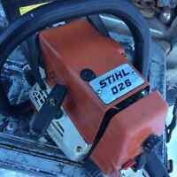 STIHL 026 CHAINSAW-20 inch BAR-EXCELLENT CONDITION$350FIRM