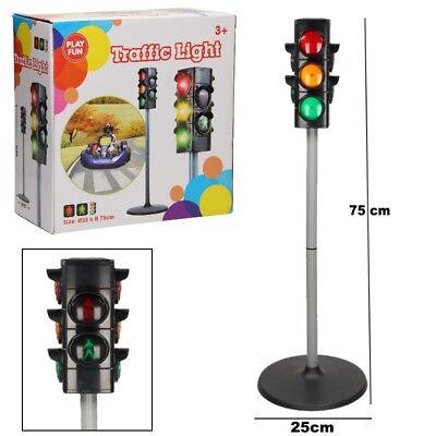 Kinder Spielzeug Ampel Verkehrsampel mit Licht 75 cm Verkehrslicht Lernspielzeug ()