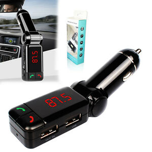 Wireless Bluetooth Receiver FM Radio Stereo Adapter Transmitter Car MP3 Player