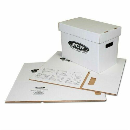 BCW Short Comic Storage Box | White | Holds 150-175 Comics | 3-Pack