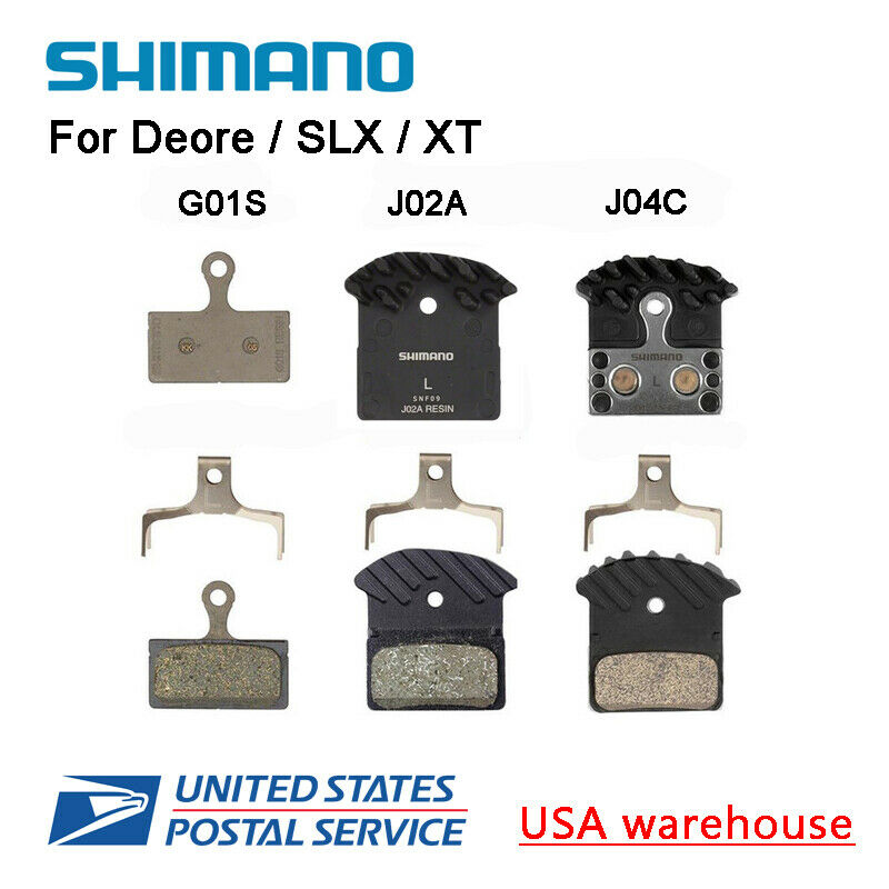 Shimano G01S J02A J03A J04C N03A D03S Brake Pads Resin Metal Cooling Fins OE