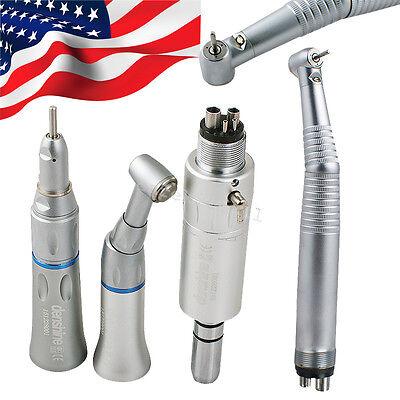 Usa Dental E-generator High Low Speed Led Handpiece Kit 4h Push Button 4 Holes
