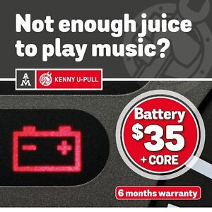 Used batteries for only $35 with a 6-month warranty*
