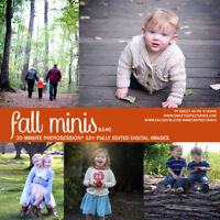 Fall Mini Sessions Booking starting Mid September! Book Now!