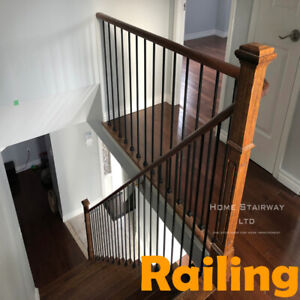 Luxury iron railing Stairs part, Wood baseboard, moldings