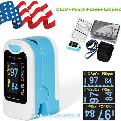 Usa Fingertip Pulse Oximeter Oled Blood Oxygen Spo2 Pulse Heart Rate Monitor New