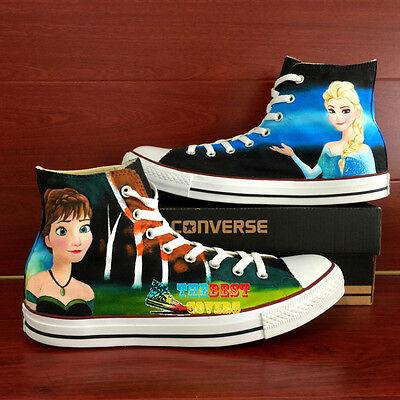 CONVERSE All Star FROZEN W. Disney cartoon disney hand painted shoes zapatos ](Cartoon Converse Shoes)