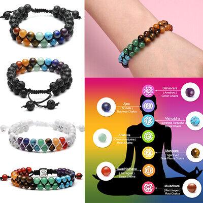 Men Ladies Natural Lava Stone Reiki Root Chakra Healing Gemstone Beads Bracelet Chakra Healing Stone Bracelet