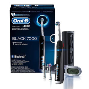 NEW!Oral-B SmartSeries Black 7000 Rechargeable Toothbrush