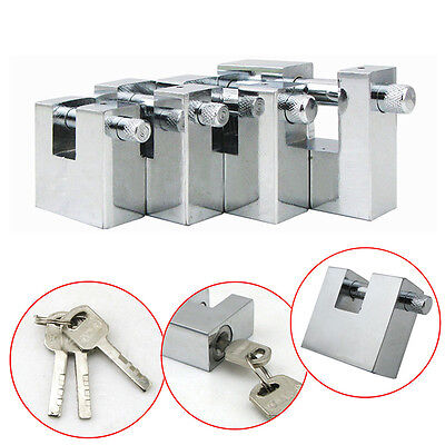 Steel Padlocks Chain Pad Lock For Heavy Duty Shipping Container Garage Casebox