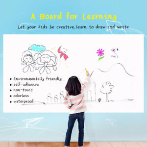 White Board Sticker Dry Erase Self-Adhesive Peel and Stick Wall