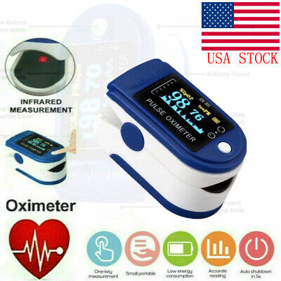 Finger Pulse Oximeter Blood Oxygen Spo2 Monitor Pr Pi Heart Rate Patient Fda Ce