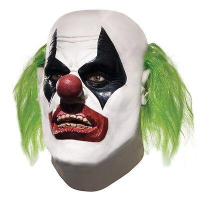 Adult Batman JOKER HENCHMAN One Arm Hammer Arkham City Clown Mens Overhead Mask - Halloween City Clown Masks