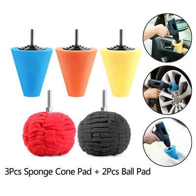 Car Wheel Hub Polish Buffing Shank Polishing Sponge Cone Metal Foam Pad Calm Set - Foam Cones