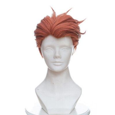 Halloween Wig Tips (Game OW Moira Wig Mixed Orange Head Beauty Tip OW Halloween Cosplay Short)