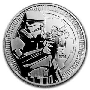 2018 Star Wars Silver Storm Trooper BU Coin with Extras