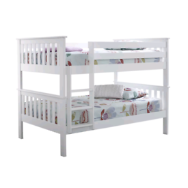 Small double beds or bunk bed with mattresses
