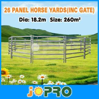26pcs Horse Round Yard Panels Inc Gate 18.2m Diameter Springvale Greater Dandenong Preview