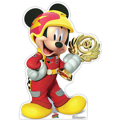 MICKEY MOUSE Mickey & Roadster Racers CARDBOARD CUTOUT Standup Standee Poster