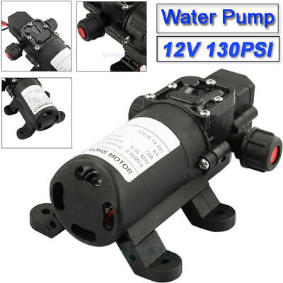 130psi High Pressure Water Pump Automatic Switch Self Priming 6lmin 12v 70w 9m