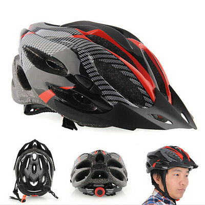 Cycling Bicycle Adult Mens Bike Helmet Red carbon color With Visor Mountain UCO - Adult Mens