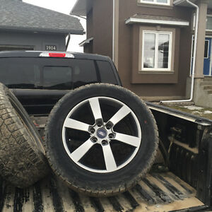 Ford f150 20 inch rims and Hankook tires....25k