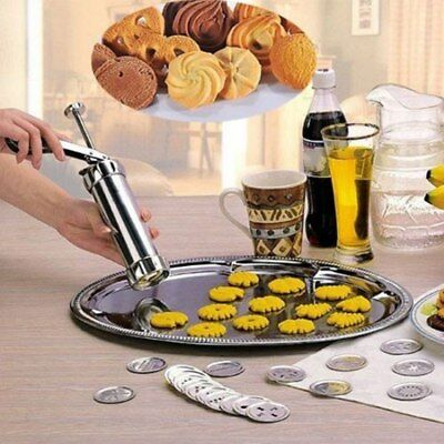 24Pcs Pro Stainless Steel Deluxe Biscuit Maker Cookie Stamp Press Bakeware Tool