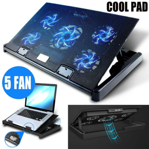 Laptop Cooling Pad 11 17 Inch Gaming Laptop Usb Fan Cooler With 5 Fans Dual Usb Ebay