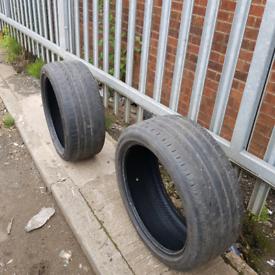 Pirelli 245/40/19 tyres.decent tread.no puncture repairs or damage.