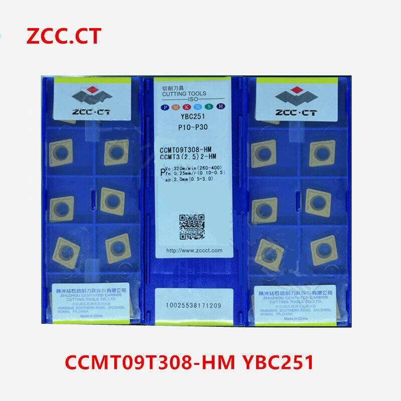 2.5 10pcs ZCC.CT CCMT09T308-HM YBC251 2-HM YBC251 CCMT3