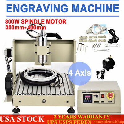 4 Axis 3040 Cnc Router Engraver Milling 3d Cutter Engraving Mill Drill Machine