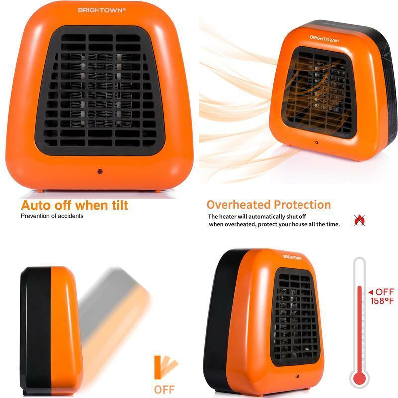 Brightown Mini Desk Heater, 400W Low Wattage Personal Cerami