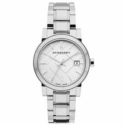 Nuevo Burberry BU9100 Mujer Cuadros Grabado Reloj - 2 Años Garantia
