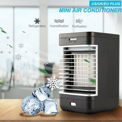 Air Cooler Humidifier Portable Travel Mini Conditioner Fan Household Home Room