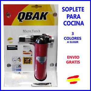 Soplete de gas para cocina reposter a flambear recargable - Soplete de cocina ...